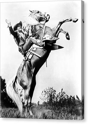 Roy Rogers Riding Trigger, Ca. 1940s Canvas Print by Everett