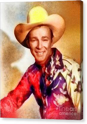 Roy Rogers, Vintage Western Legend Canvas Print by Frank Falcon