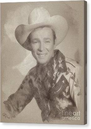 Roy Rogers, Western Star And Singer Canvas Print by John Springfield
