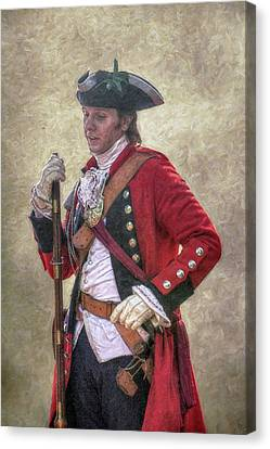 Royal Americans Officer Portrait  Canvas Print by Randy Steele