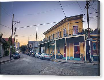 Royal And Touro Streets Sunset In The Marigny Canvas Print by Ray Devlin