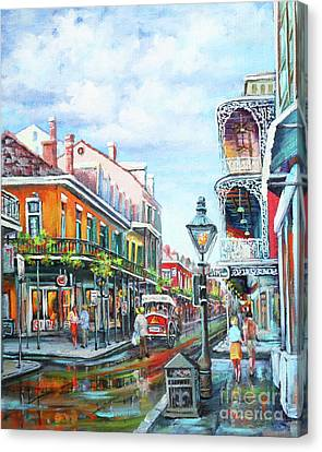 Canvas Print featuring the painting Royal Balconies by Dianne Parks