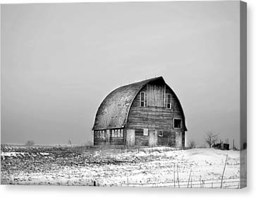 Royal Barn Bw Canvas Print by Bonfire Photography