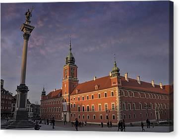 Residence Canvas Print - Royal Castle Warsaw Old Town by Carol Japp