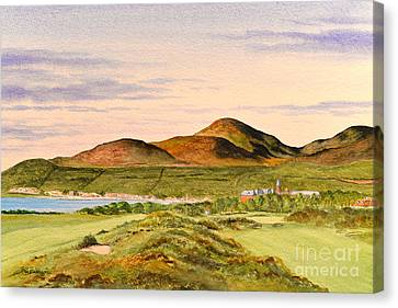 Canvas Print featuring the painting Royal County Down Golf Course by Bill Holkham