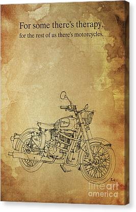 Royal Enfield Bullet 500 Quote Canvas Print by Pablo Franchi