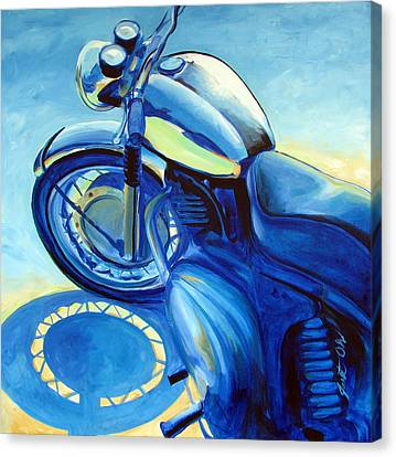 Royal Enfield Canvas Print by Janet Oh