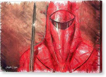 Guard Canvas Print - Royal Guard - Da by Leonardo Digenio