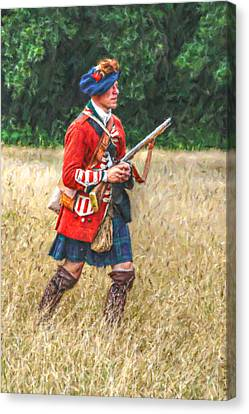 Royal Highlanders 77th Regiment Of Foot  Canvas Print by Randy Steele
