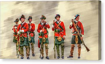 French And Indian War Canvas Print - Royal Highlanders Review by Randy Steele