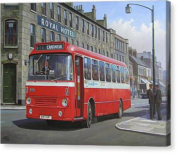 Canvas Print featuring the painting Royal Hotel by Mike Jeffries