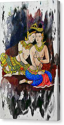 Royal Lovers Of Siam  Canvas Print by Ian Gledhill