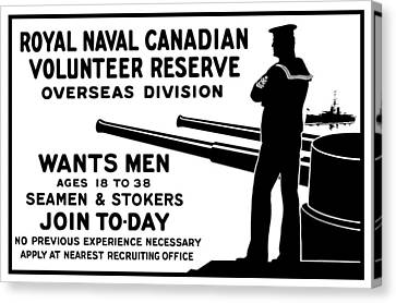 Royal Naval Canadian Volunteer Reserve Canvas Print by War Is Hell Store
