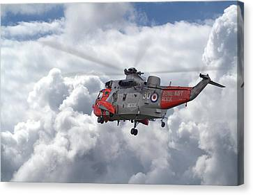 Canvas Print featuring the photograph Royal Navy - Sea King by Pat Speirs