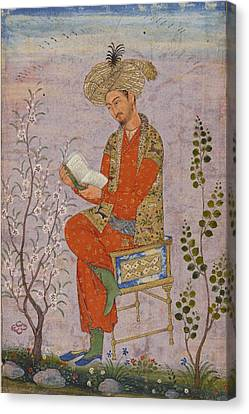 Royal Reader Canvas Print by Asok Mukhopadhyay