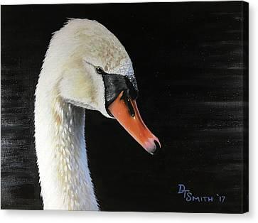 Royal Swan Canvas Print