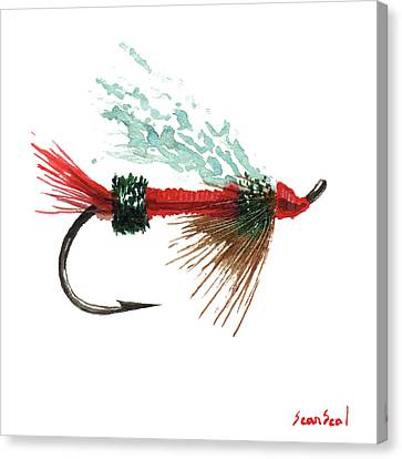 Royal Trude Salmon Fly Canvas Print by Sean Seal