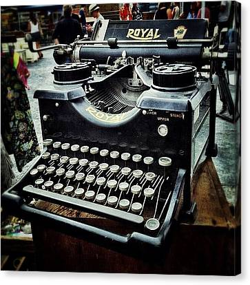 Royal Typewriter Canvas Print