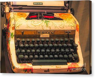 Canvas Print - Royal Typewriter by Paulette Thomas