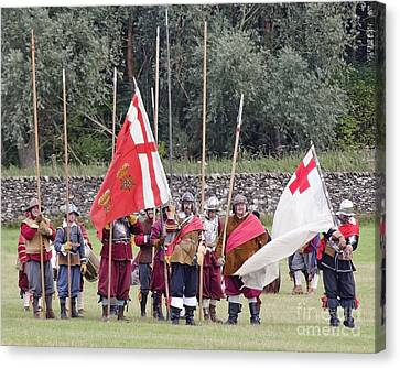 Royalist Pikemen Canvas Print by Linsey Williams