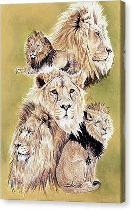 Feline Canvas Print - Royalty by Barbara Keith