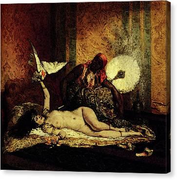 Roybet Ferdinand Odalisque Canvas Print