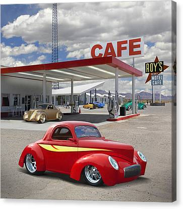 Roy's Gas Station - Route 66 2 Canvas Print by Mike McGlothlen