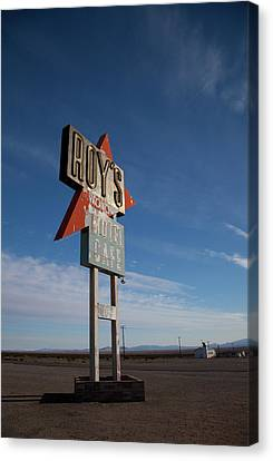 Canvas Print featuring the photograph Roys In Amboy by Matthew Bamberg