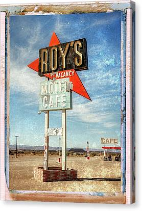 Roy's Motel And Cafe Canvas Print by Dominic Piperata