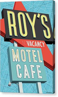 Modern Canvas Print - Roy's Motel Cafe Pop Art by Jim Zahniser