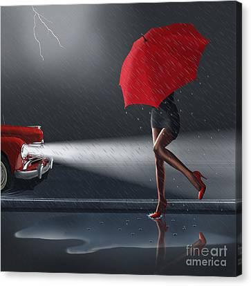 Rainy Day Canvas Print by Monika Juengling