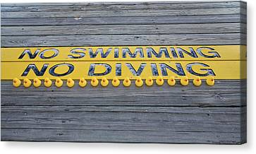 Rubber Duck Swim Team Protest Canvas Print by Shelly Stallings