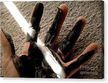 Canvas Print featuring the photograph Rubber Hand by Micah May
