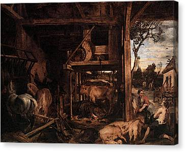 Prodigal Canvas Print - Rubens Return Of The Prodigal Son by Peter Paul Rubens