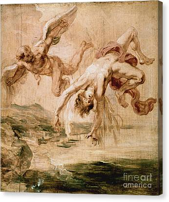 Rubens:fall Of Icarus 1637 Canvas Print by Granger