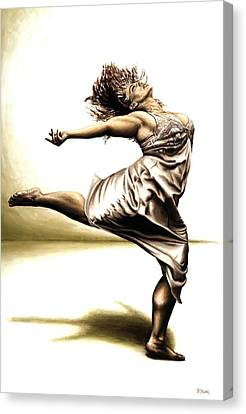 Ballerinas Canvas Print - Rubinesque Dancer by Richard Young