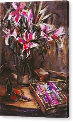 Rubirosa Lilies Canvas Print