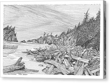 Ruby Beach Canvas Print by Jack Pumphrey