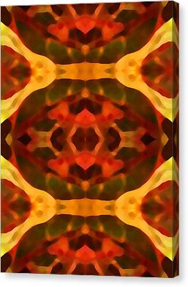 Ruby Crystal Pattern Canvas Print by Amy Vangsgard