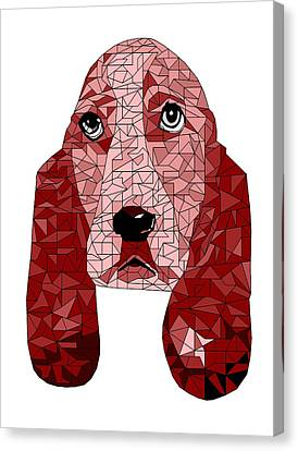 Puppy Canvas Print - Ruby In Red by David Smith