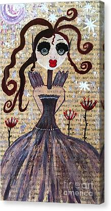Canvas Print featuring the painting Ruby by Julie Engelhardt