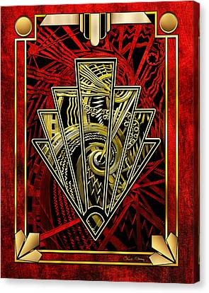 Canvas Print featuring the digital art Ruby Red And Gold by Chuck Staley