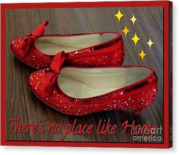 Ruby Slippers Canvas Print by Joan-Violet Stretch