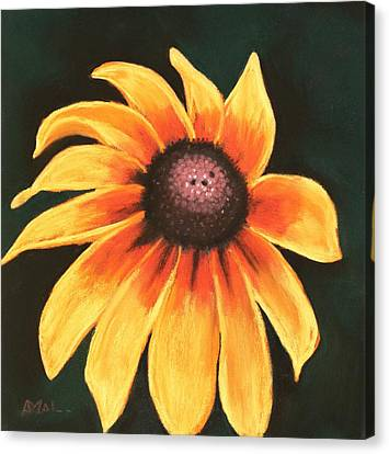 Canvas Print featuring the painting Rudbeckia Hirta by Anastasiya Malakhova
