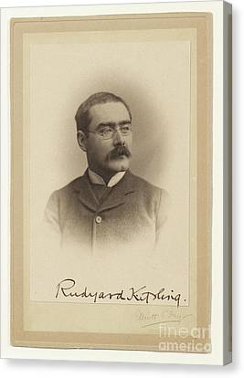 Rudyard Kipling  Canvas Print by MotionAge Designs