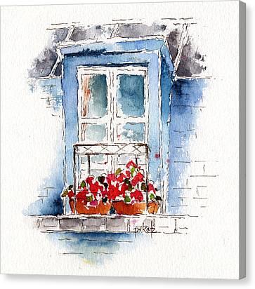 Rue Bernardine Window Canvas Print by Pat Katz