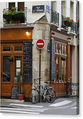 Rue De La Colombe - Paris Photograph Canvas Print
