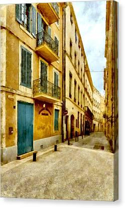 Canvas Print featuring the photograph Rue De La Violette by Scott Carruthers