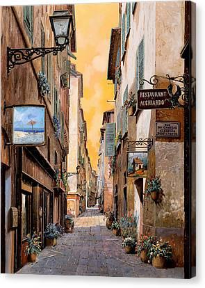 Rue Droite Nice  Canvas Print by Guido Borelli