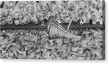 Ruff Sea Canvas Print